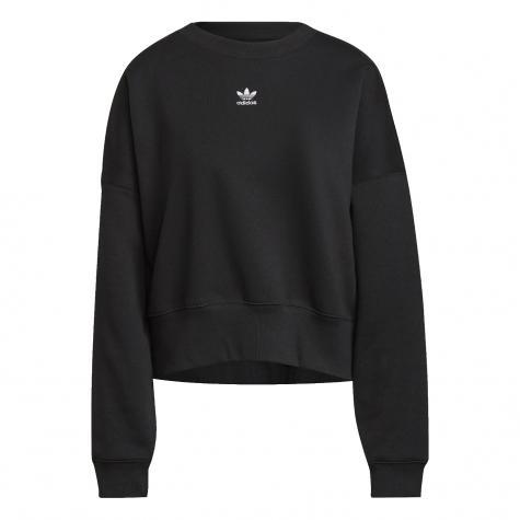 Adidas Small Trefoil Damen Sweatshirt schwarz
