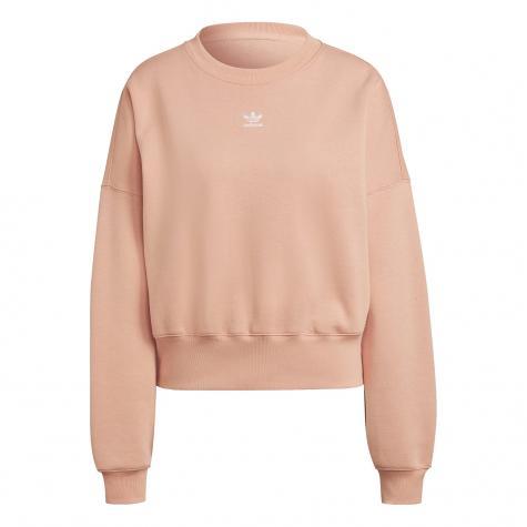Adidas Small Trefoil Damen Sweatshirt coral