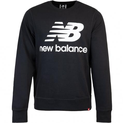 New Balance Sweatshirt Essentials Stack Logo schwarz