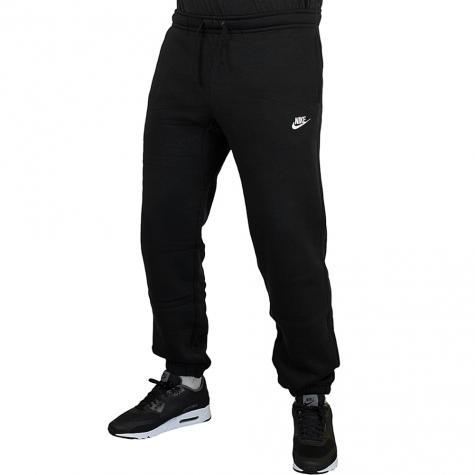 Nike Sweatpant Cuffed Fleece Club schwarz/weiß