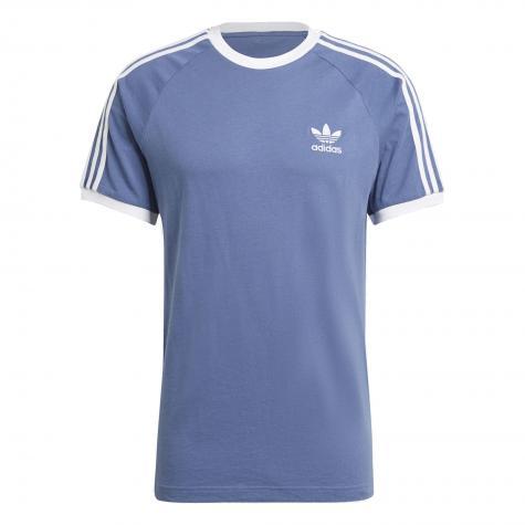 Adidas 3 Stripes T-Shirt blau