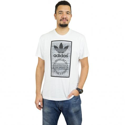 Adidas Originals T-Shirt Traction Tongue weiß