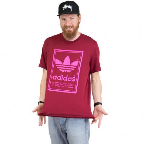 Adidas Originals T-Shirt Vintage weinrot