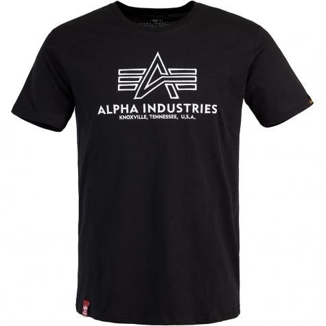 Alpha Industries Basic Embroidery T-Shirt schwarz weiß