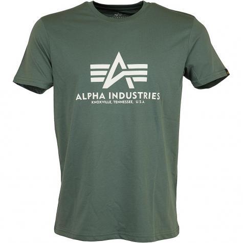 Alpha Industries T-Shirt Basic vintage grün