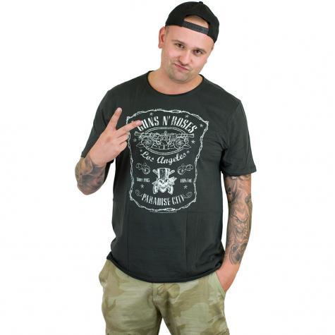 Amplified T-Shirt Guns`n`Roses L.A. Paradise City dunkelgrau