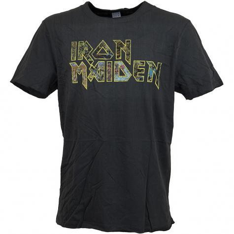 Amplified T-Shirt Iron Maiden Eddies Logo dunkelgrau
