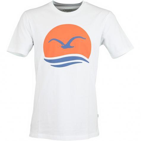 Cleptomanicx T-Shirt Big Mocean white