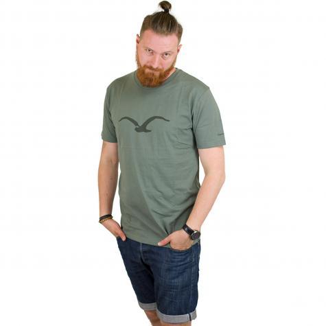Cleptomanicx T-Shirt Mowe dust olive