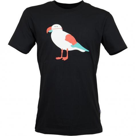 Cleptomanicx T-Shirt Papagull schwarz
