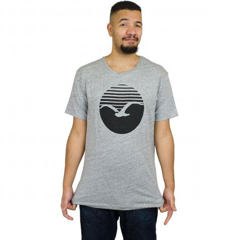 Cleptomanicx T-Shirt Vintage Print grau/schwarz