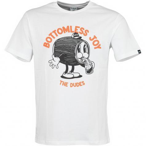 The Dudes T-Shirt Bottomless Joy weiß