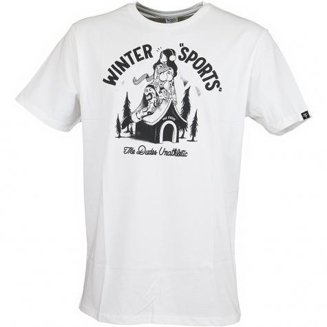 The Dudes T-Shirt Winter Sports weiß