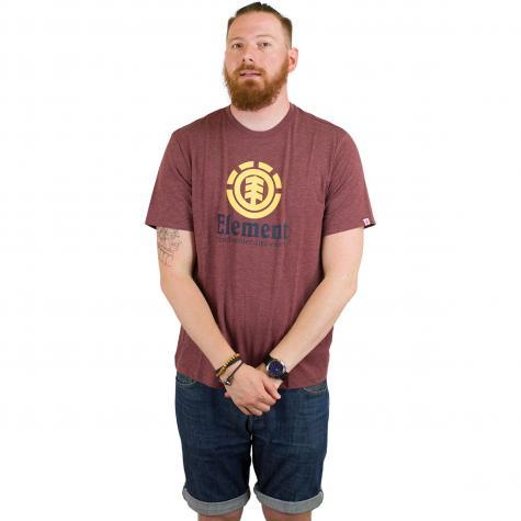 Element T-Shirt Vertical oxblood