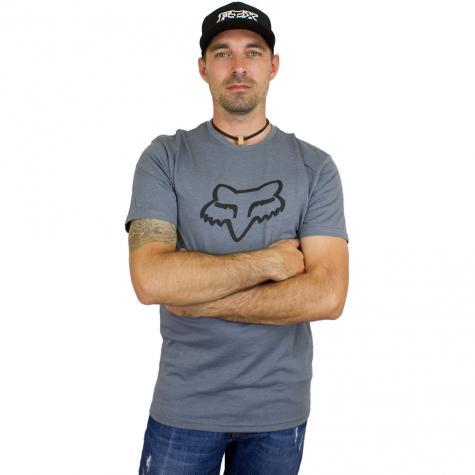 Fox T-Shirt Legacy Foxhead grau