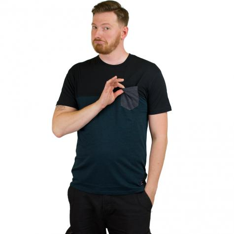 Iriedaily T-Shirt Block Pocket deep lake