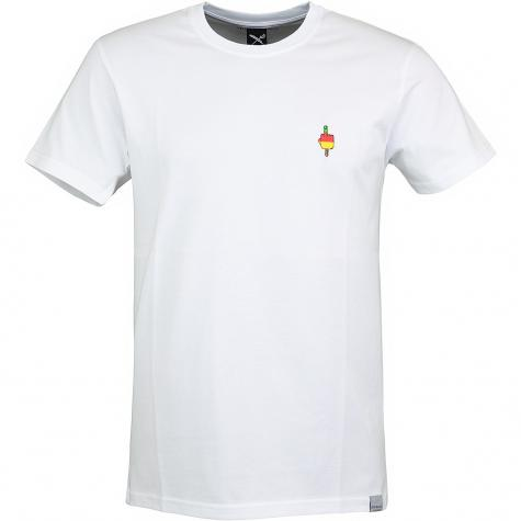 Iriedaily T-Shirt Flutscher Embroidered weiß