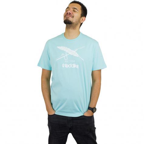 Iriedaily T-Shirt Harpoon Flag tahitiblue