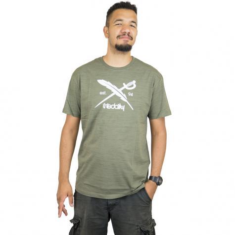 Iriedaily T-Shirt Mesh Flag oliv