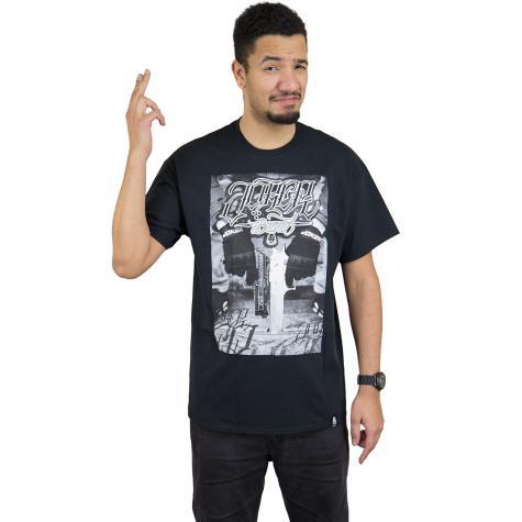 Joker Brand T-Shirt Gun schwarz