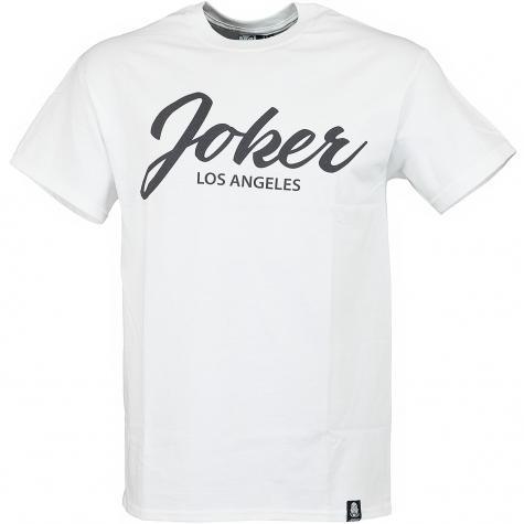 Joker Brand T-Shirt Script weiß