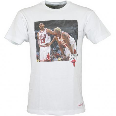 Mitchell & Ness T-Shirt Chicago Bulls Pippen & Rodman weiß