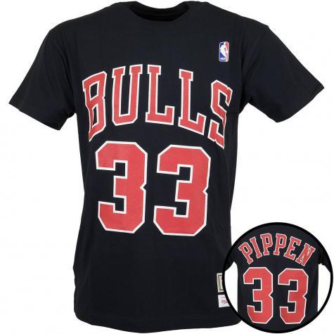 Mitchell & Ness T-Shirt Chicago Bulls Pippen schwarz