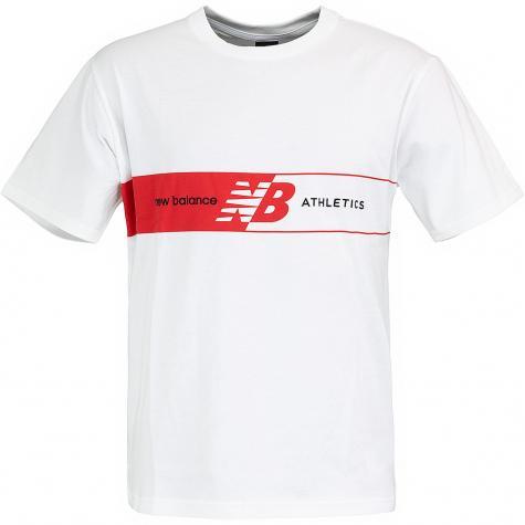 New Balance T-Shirt Athletics Keyline weiß