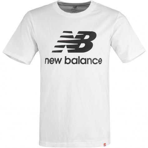 New Balance T-Shirt Essentials Stacked Logo weiß