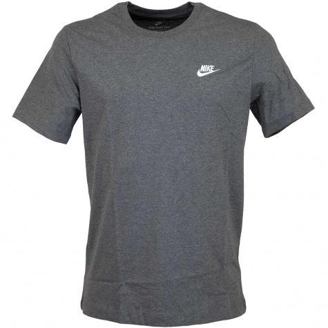 Nike T-Shirt Club dunkelgrau/weiß