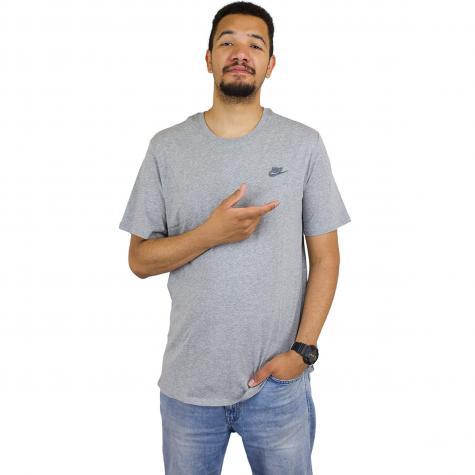 Nike T-Shirt Embroidered Futura grau/grau