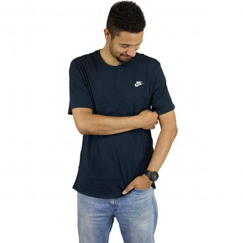 Nike T-Shirt Embroidered Futura dunkelblau