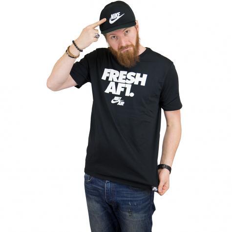 Nike T-Shirt Fresh AF1 schwarz/weiß