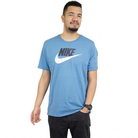 Nike T-Shirt Futura Icon hellblau/weiß