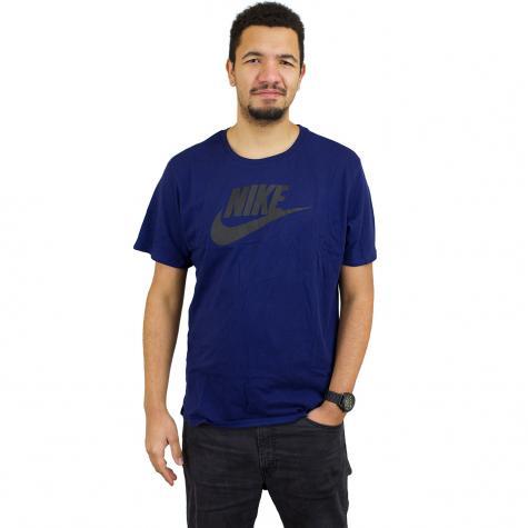 Nike T-Shirt Futura Icon blau/schwarz