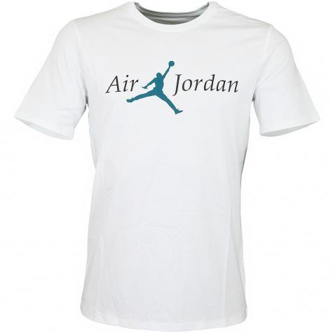 Nike T-Shirt Jordan Brand 5 weiß/türkis