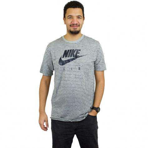 NikeT-Shirt  Urban Classics AM90 2 grau/dunkelblau