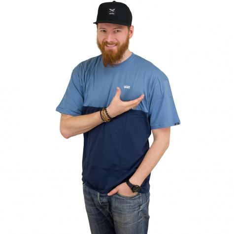 Vans T-Shirt Colorblock blau/blau