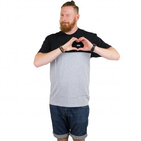 Vans T-Shirt Colorblock schwarz/grau