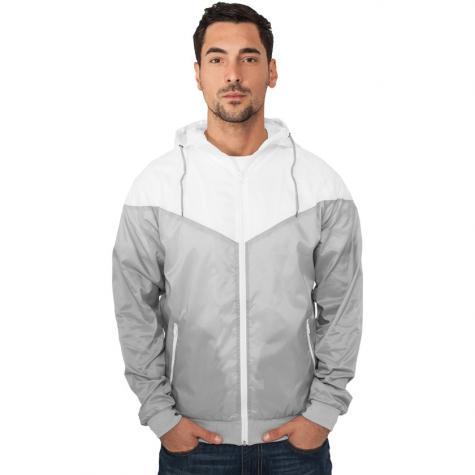 Jacke Urban Classics Arrow Windrunner Regular Fit grey/white
