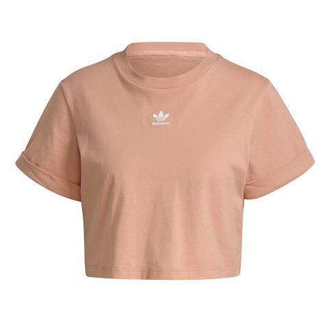 Adidas Essential Cropped Damen Top orange