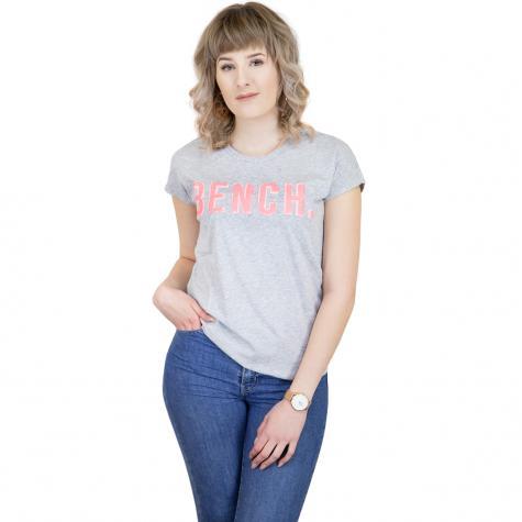 Bench Damen T-Shirt New Logo grau