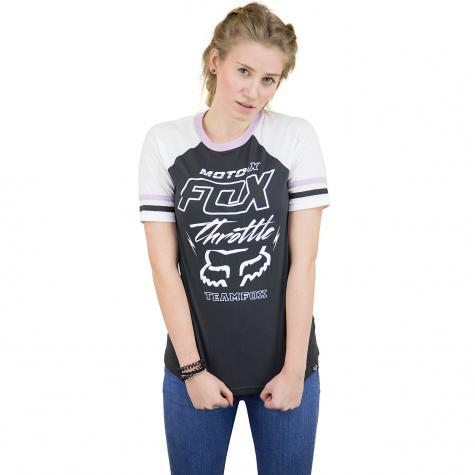 Fox Damen T-Shirt Throttle Maniac Raglan schwarz