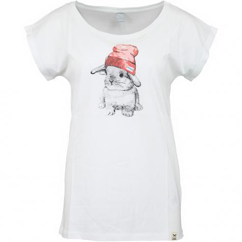 Iriedaily Damen T-Shirt It Hasi weiß/rot