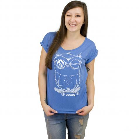 Iriedaily Damen T-Shirt Skateowl 2 blaugrau meliert