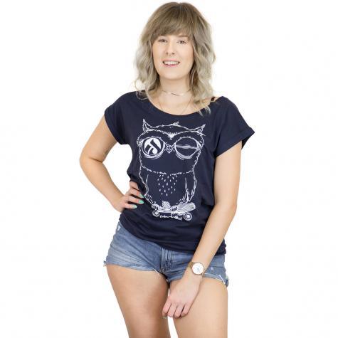 Iriedaily Damen T-Shirt Skateowl 2 navy