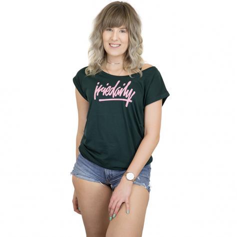 Iriedaily Damen T-Shirt  Taggety grün