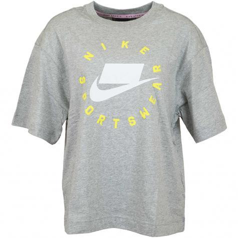 Nike Damen T-Shirt Drop Shoulder grau/weiß