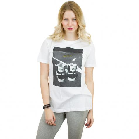 Nike Damen T-Shirt Footwear weiß