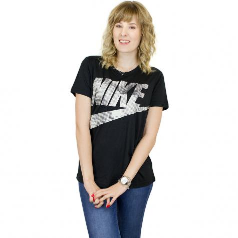 Nike Damen T-Shirt Glacier schwarz/beige
